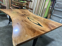 Live Edge Bookmatched Sycamore Slab LES065