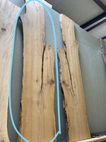 Unfinished live edge Bois Darc slab ULES-002