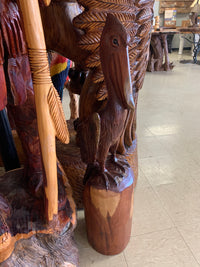 Wooden pelican Wood Art.