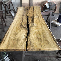 Live edge Cottonwood Slab - LES-120-The Phillips Forest Store-live edge dining table