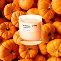 Glass Tumbler Soy Candle - Pumpkin/Spices-Calyan Wax Co-candle