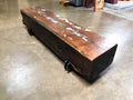 Reclaimed Heart Pine Wood Beam Coffee Table