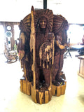 Hand Carved Wood Indian