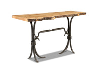 Woodland sofa table steel legs