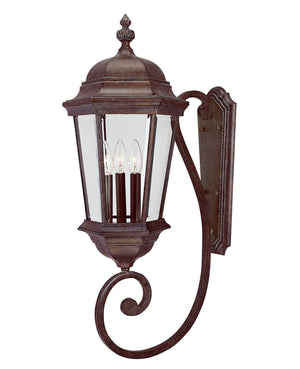 426719 - Three Light Wall Lantern - Walnut Patina