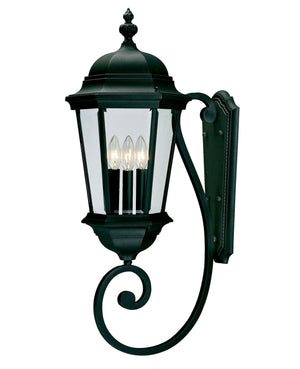 426711 - Three Light Wall Lantern - Textured Black