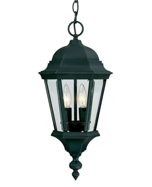 426784 - Two Light Hanging Lantern - Textured Black