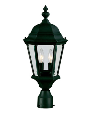 426781 - Two Light Post Lantern - Textured Black