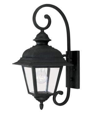 427030 - One Light Outdoor Wall Lantern - Textured Black