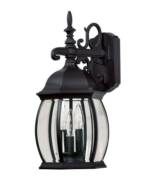 427098 - Three Light Wall Lantern - Black