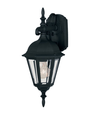 427010 - One Light Outdoor Wall Lantern - Black