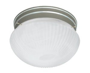 434629 - One Light Flush Mount - Satin Nickel