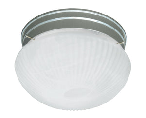 434625 - Two Light Flush Mount - Satin Nickel