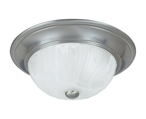 434619 - Two Light Flush Mount - Satin Nickel