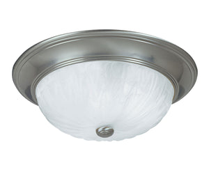 434688 - Three Light Flush Mount - Satin Nickel
