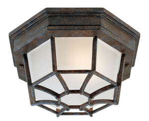 434664 - One Light Flush Mount - Rustic Bronze