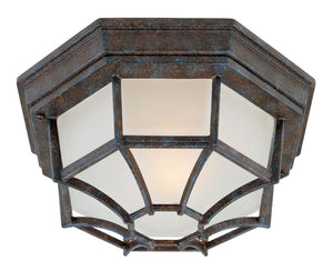 434662 - One Light Flush Mount - Rustic Bronze