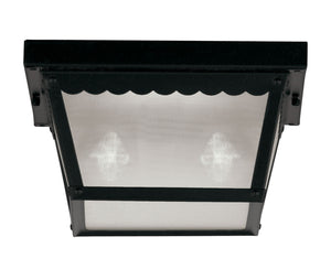 434674 - Two Light Flush Mount - Black