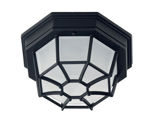 434703 - One Light Flush Mount - Black