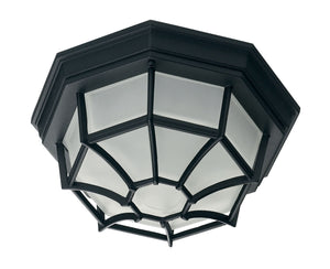 434701 - One Light Flush Mount - Black