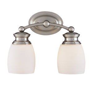432055 - Two Light Bath Bar - Satin Nickel