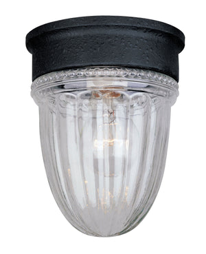 432236 - One Light Flush Mount - Textured Black
