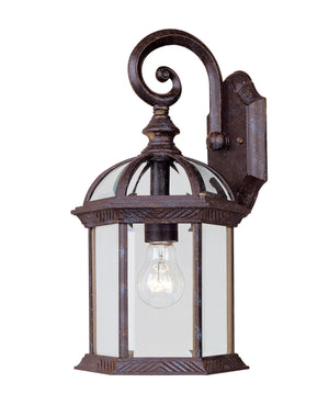 433085 - One Light Outdoor Wall Lantern - Rustic Bronze