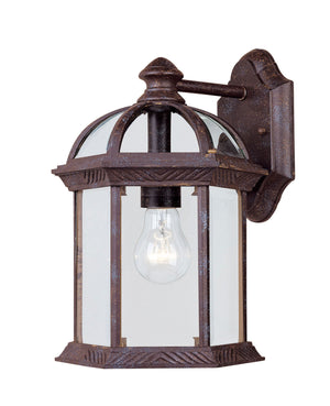 433060 - One Light Outdoor Wall Lantern - Rustic Bronze