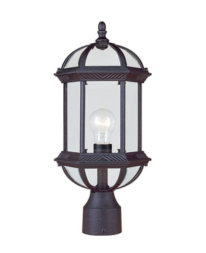 433069 - One Light Post Lantern - Textured Black