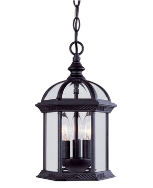 433066 - Three Light Hanging Lantern - Textured Black