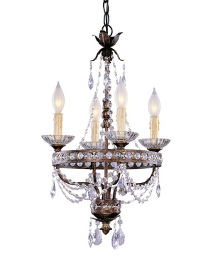 433205 - Four Light Mini Chandelier - New Tortoise Shell w/ Silver
