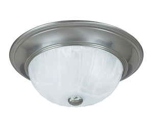 433958 - Two Light Flush Mount - Satin Nickel