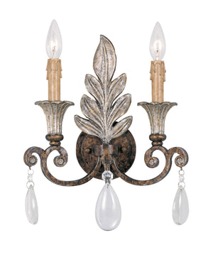 495486 - Two Light Wall Sconce - New Tortoise Shell w/ Silver