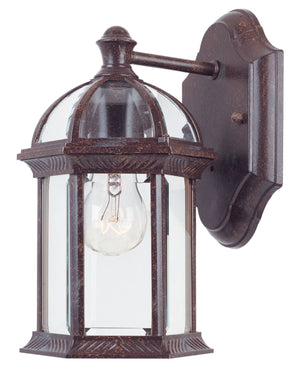 455836 - One Light Outdoor Wall Lantern - Rustic Bronze