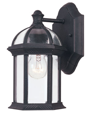 455837 - One Light Outdoor Wall Lantern - Textured Black