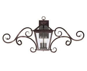 218802 - Three Light Wall Lantern - English Bronze