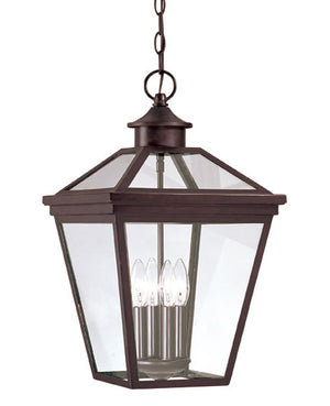 218803 - Four Light Outdoor Hanging Lantern - English Bronze