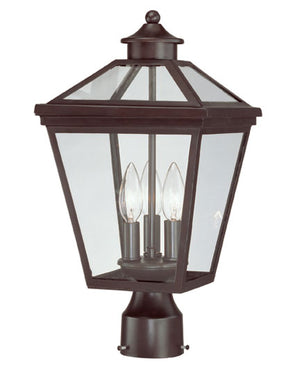 218801 - Three Light Post Lantern - English Bronze