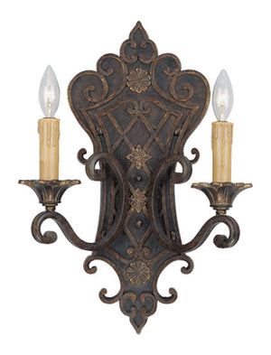 264624 - Two Light Wall Sconce - Florencian Bronze