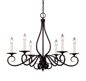 275261 - Six Light Chandelier - English Bronze