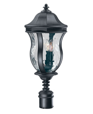 253026 - Three Light Post Lantern - Black