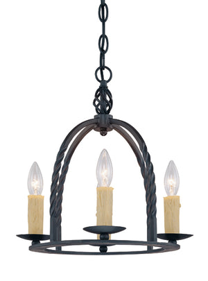 301530 - Four Light Mini Chandelier - Slate