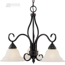 324612 - Three Light Chandelier - English Bronze