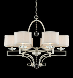 383900 - Six Light Chandelier - Silver Sparkle