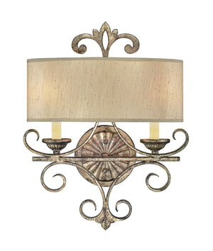 383997 - Two Light Wall Sconce - Oxidized Silver