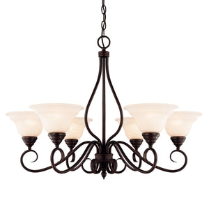373472 - Six Light Chandelier - English Bronze
