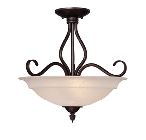 373473 - Three Light Semi-Flush Mount - English Bronze