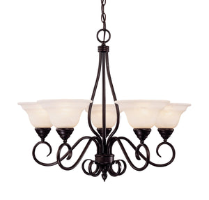 373477 - Five Light Chandelier - English Bronze
