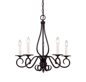 373475 - Five Light Chandelier - English Bronze