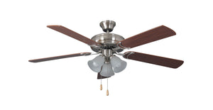 354898 - 52`` Ceiling Fan with Blades Included - Brushed Polished Nickel